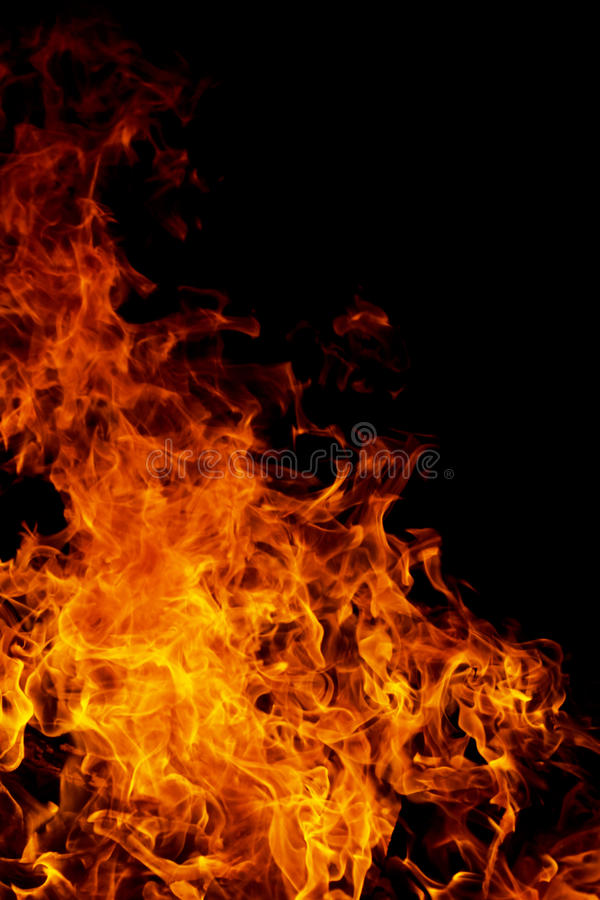 Fire flame stock photo