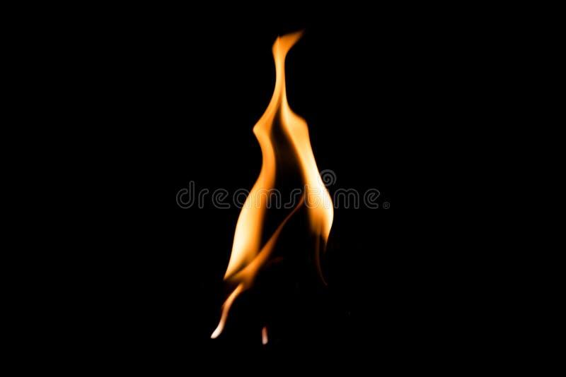 Fire flame burning dark isolated background royalty free stock image