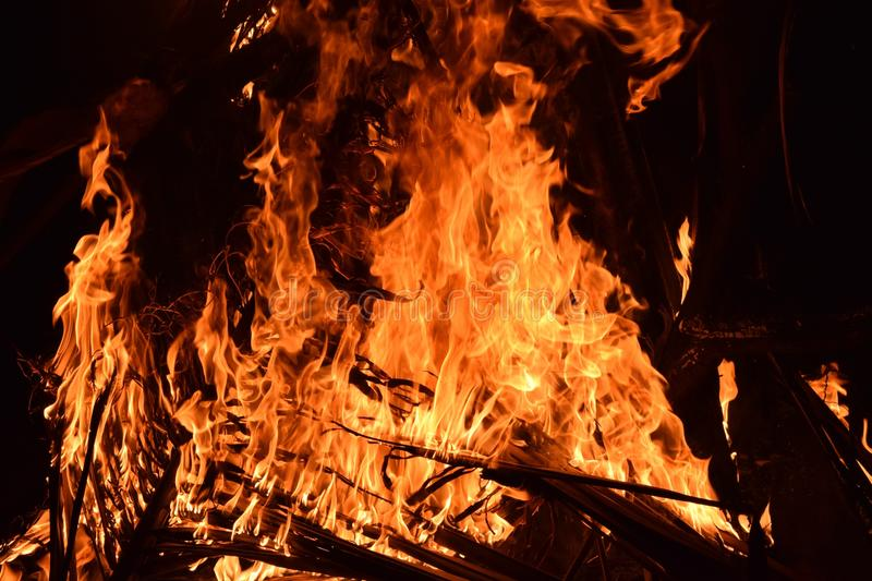Fire, Flame, Campfire, Bonfire stock image