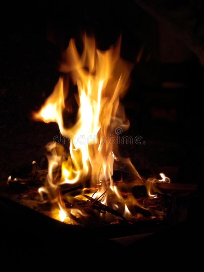 Fire Flame.close-up photo of fire at nighttime. stock photos