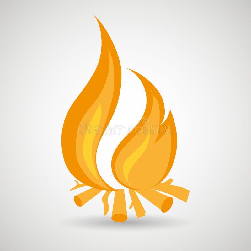 fire flame design stock illustration
