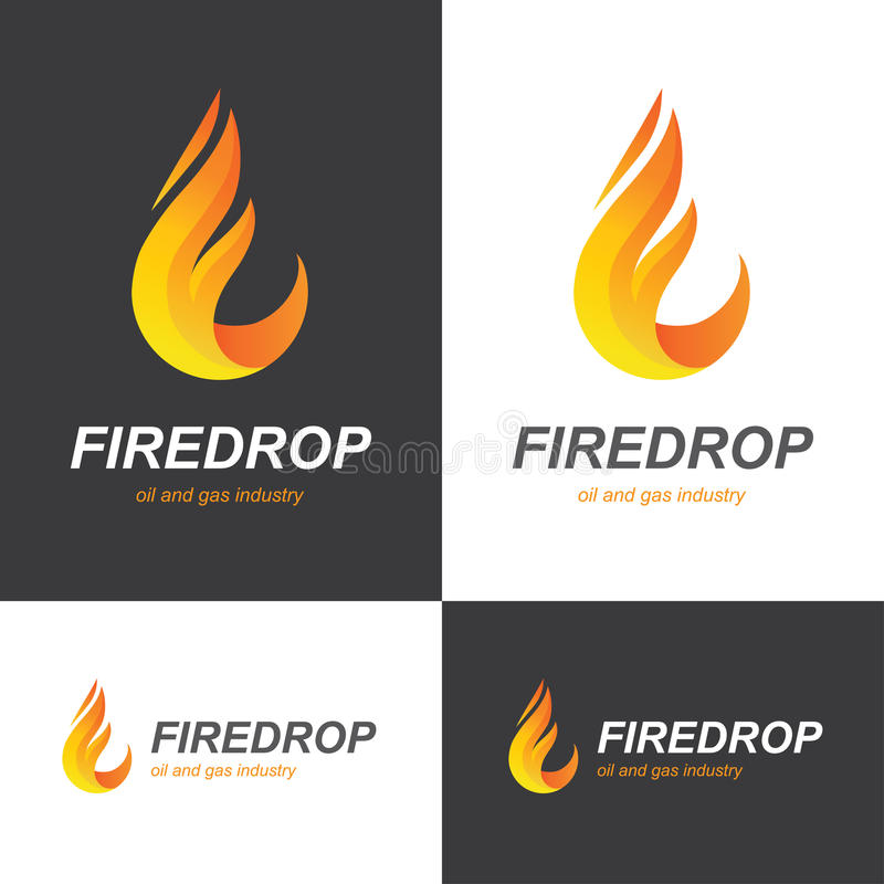 Fire flame drop logo vector illustration