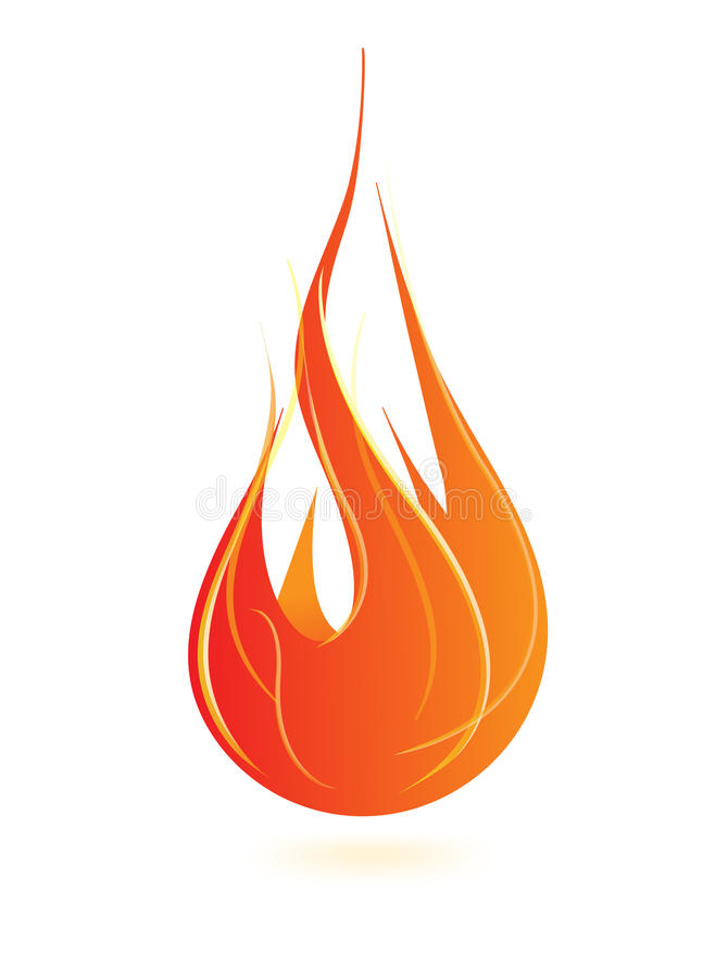 Fire Flame Icon Royalty Free Stock Photo