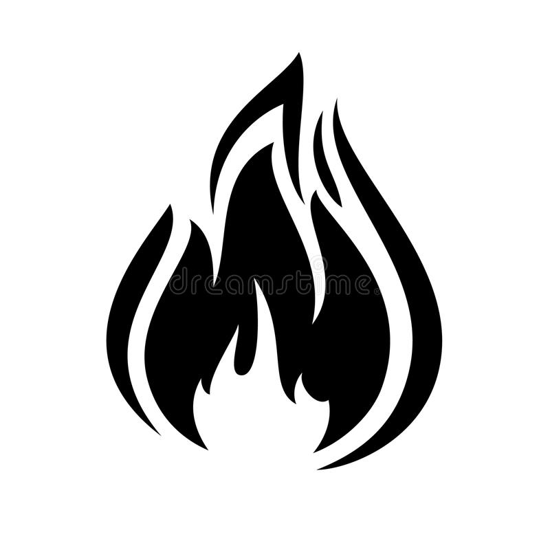 Fire flame icon stock illustration