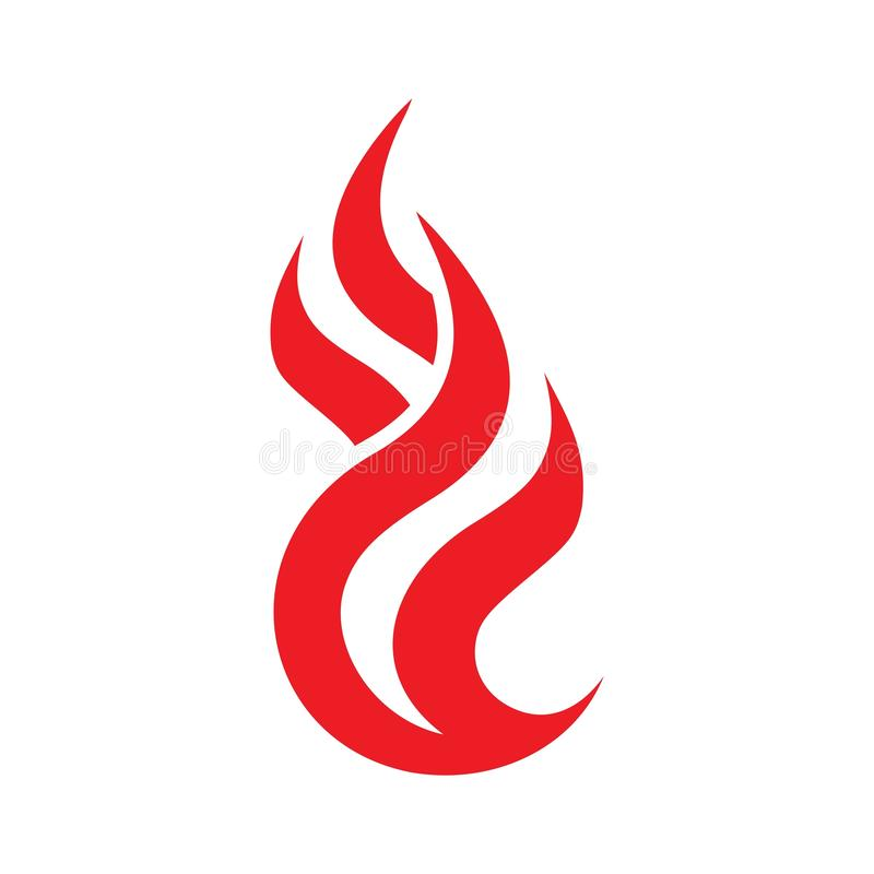 Fire Flame Logo design vectorm Fire icon stock illustration