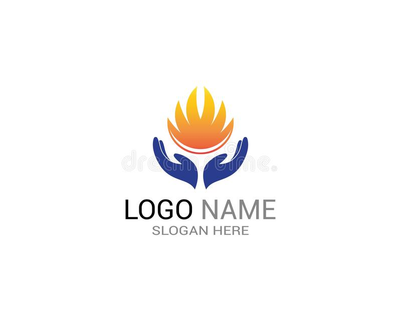 Fire flame icon sign logo stock vector  Illustration of