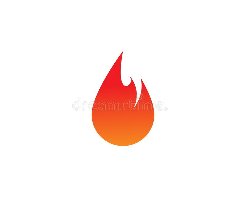 Fire flame Logo Template. Vector icon Oil, gas and energy logo concept vector illustration