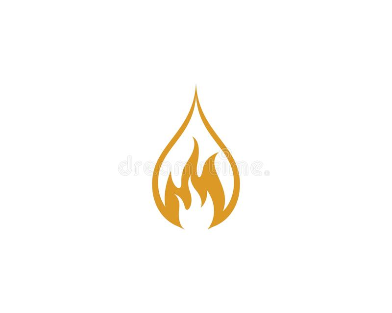Fire flame Logo Template vector icon Oil, gas and energy logo concept. vector illustration