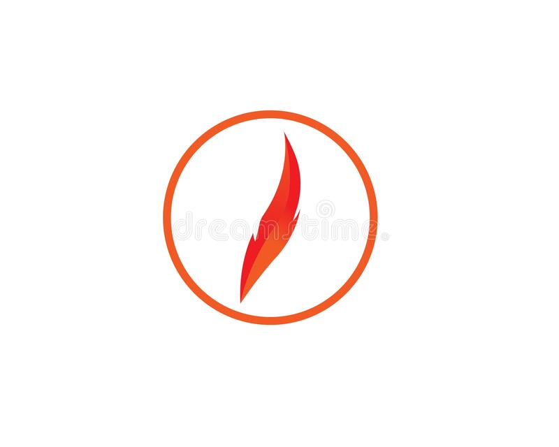 Fire flame Logo Template. Vector icon Oil, gas and energy logo concept royalty free illustration