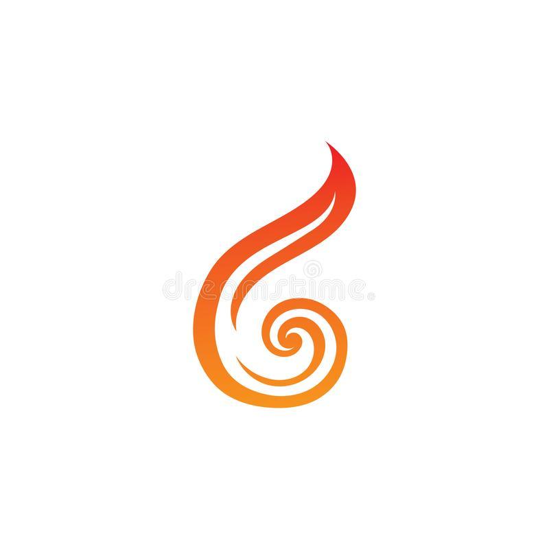 Fire flame logo and symbol. Fire flame logo and. Fire flame vector illustration design template, flames, car, hot, tribal, art, red, isolated, background, symbol royalty free illustration