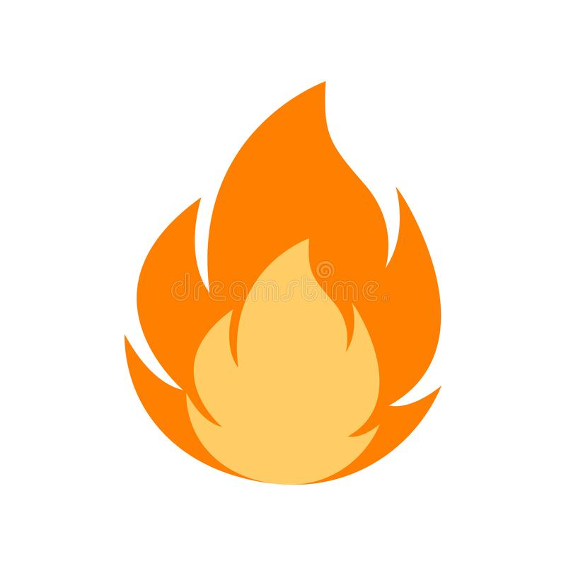 Fire flame logo vector illustration. vector fire flames sign illustration isolated. fire icon. Fire flame logo vector illustration design template. vector fire stock illustration