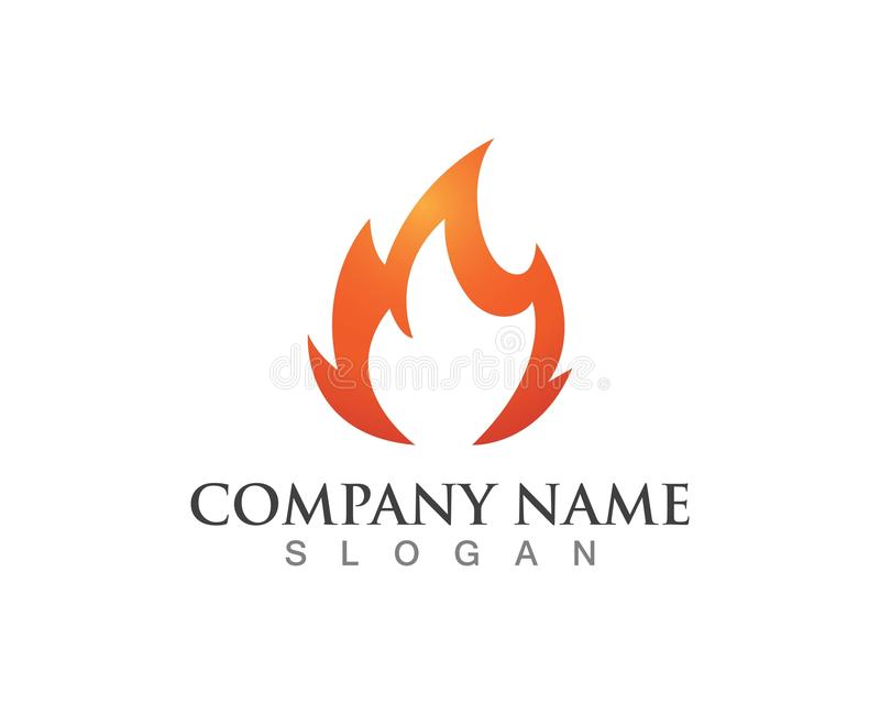 Fire flame and logos stock illustration  Illustration of