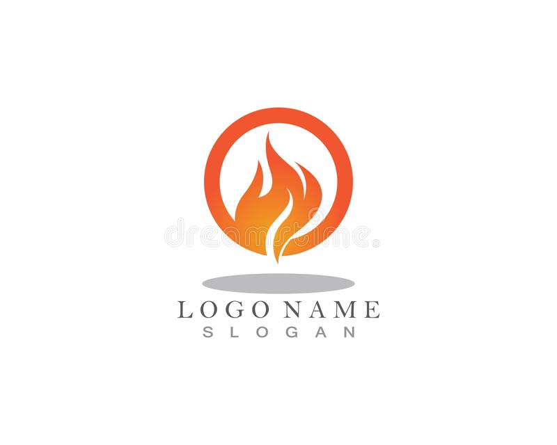 Fire flame nature logo and symbols icons template.  royalty free illustration
