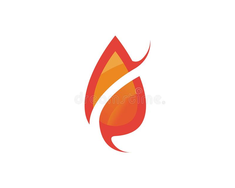 Fire flame nature logo and symbols icons template stock illustration