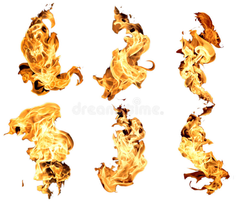 Fire flame. The Flame red isolated on white background royalty free stock photography