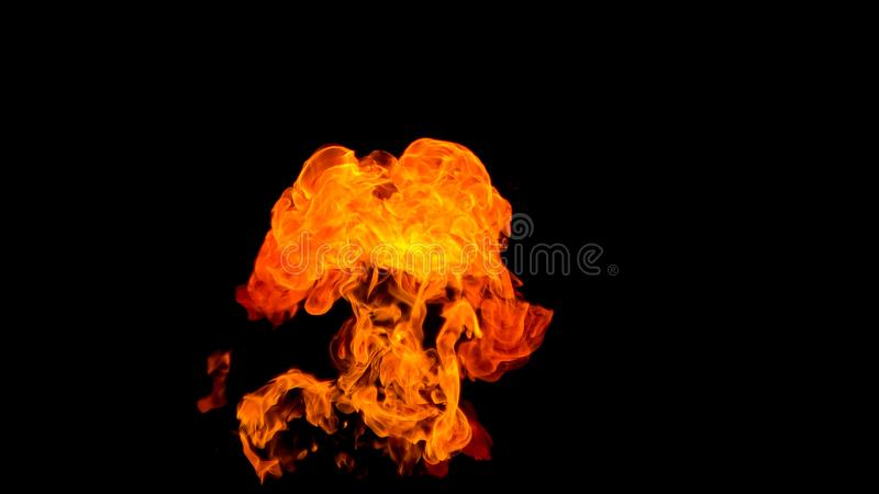 Fire flame in the shape of an angel. Fire flames on black background. fire on black background isolated. fire patterns royalty free stock photos