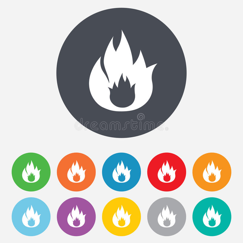 Download Fire Flame Sign Icon. Fire Symbol. Stock Illustration - Image: 36728805
