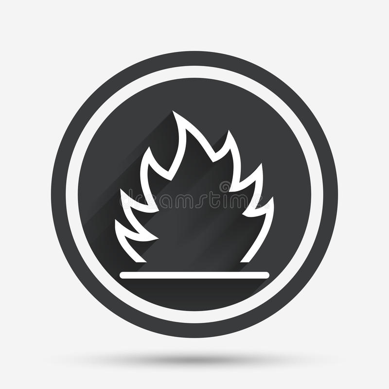 Free Fire Flame Sign Icon. Heat Symbol. Royalty Free Stock Photos - 78954178