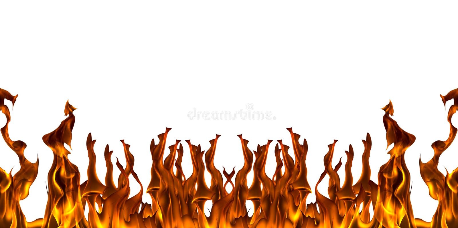 Fire flame with sparks on a white background vector illustration