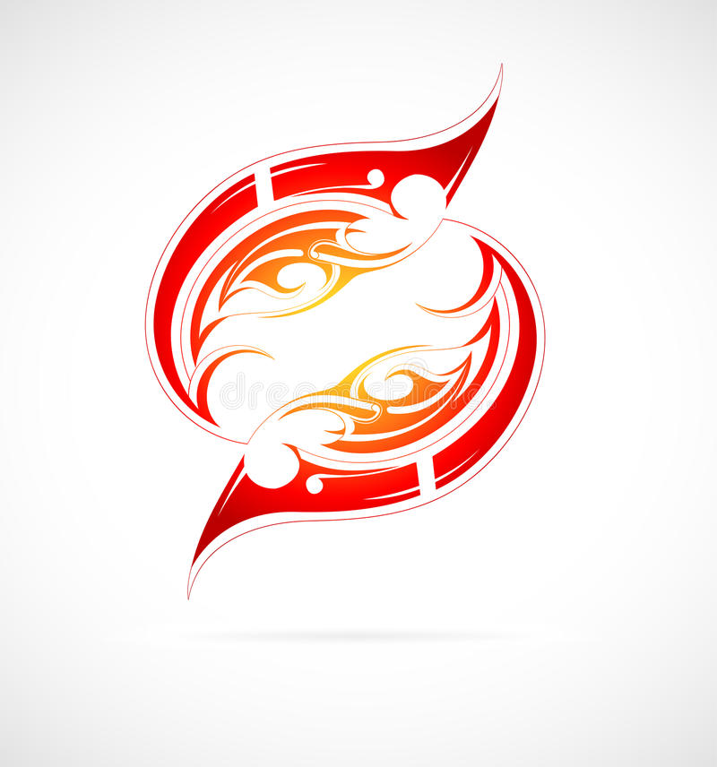 Fire flame tattoo vector illustration