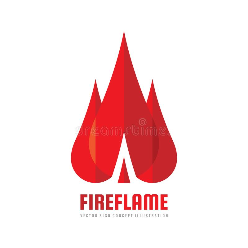 Fire flame - vector logo template concept illustration. Abstract creative sign. Design element royalty free illustration