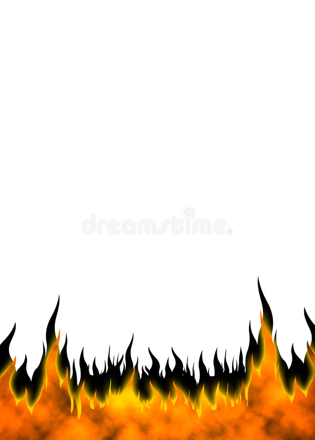 Fire Flames 04 royalty free illustration