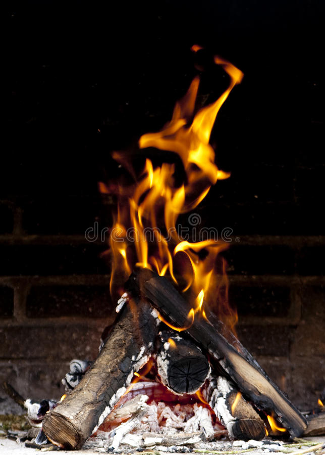 Download Fire flames stock image. Image of fireplace, barbeque - 10139749