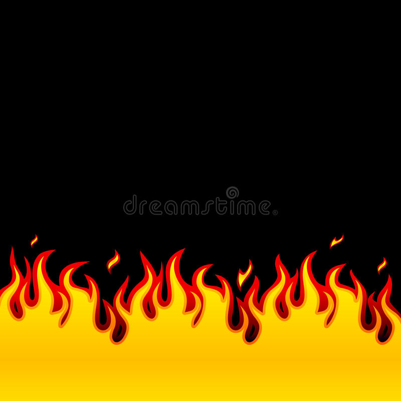 Fire, Flames royalty free illustration