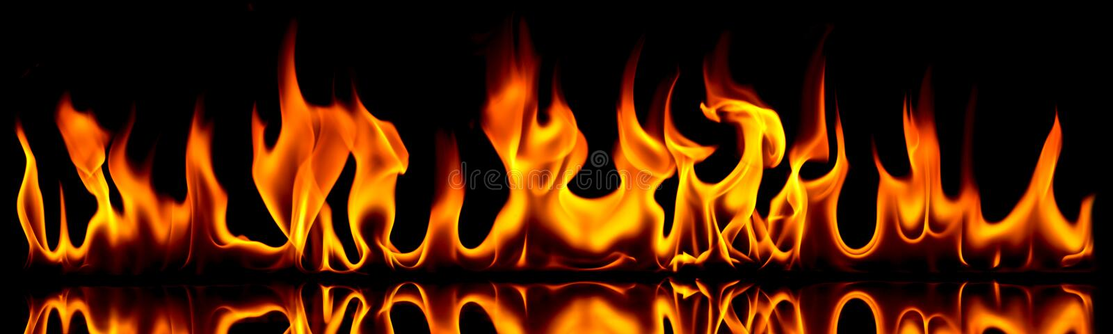 Fire and flames. stock image