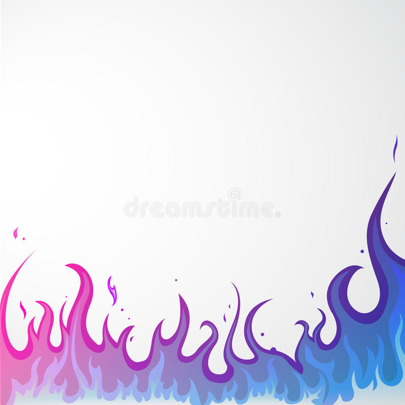 Fire - flames stock illustration