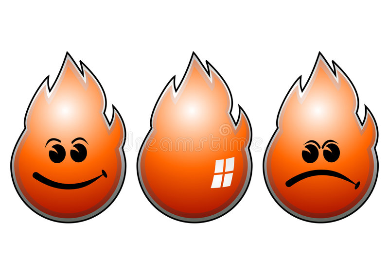 Fire_flames ilustración del vector