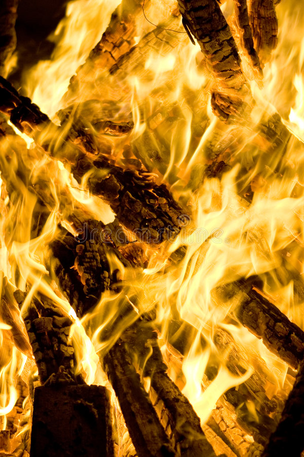 Download Fire flames stock image. Image of fire, logs, light, bright - 3888673