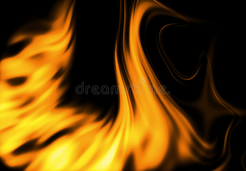 Fire flames. Abstract fire flames on black background - computer generated vector illustration