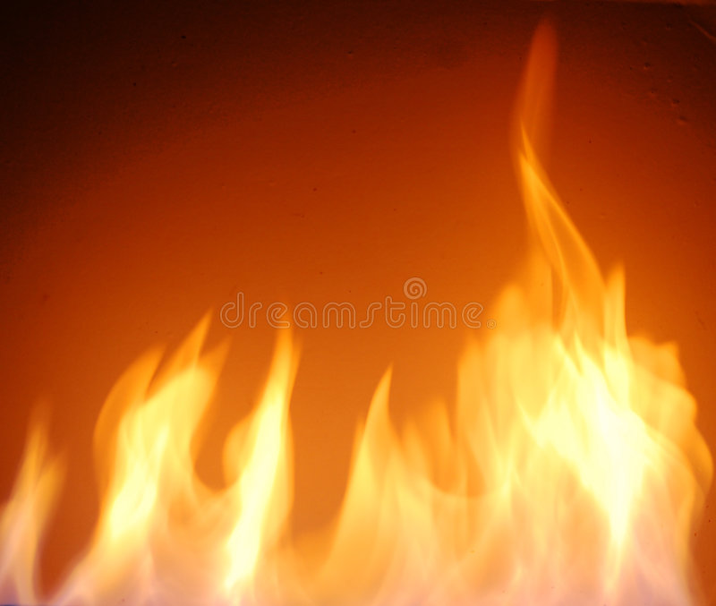 Fire flames. Over black background royalty free stock photos