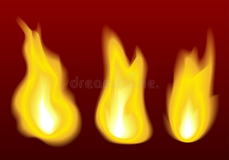 Download Fire flames stock vector. Image of orange, fiery, motion - 7183682