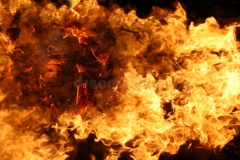 Fire flames stock image