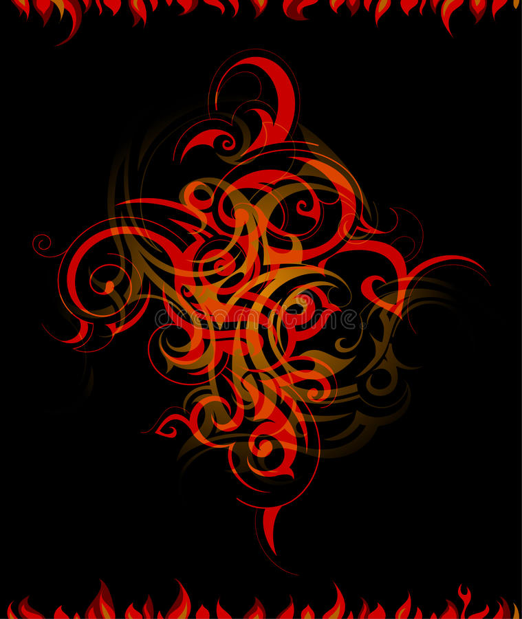 Fire flames abstraction vector illustration