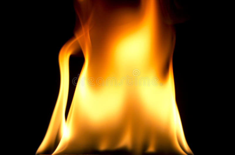 Download Fire Flames On Black Background Stock Image - Image: 28812873