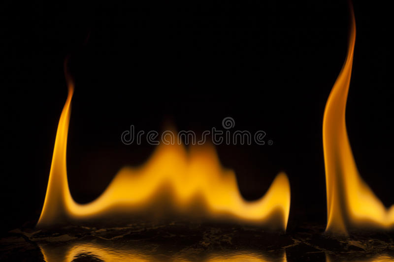 Fire flames. On black background royalty free illustration