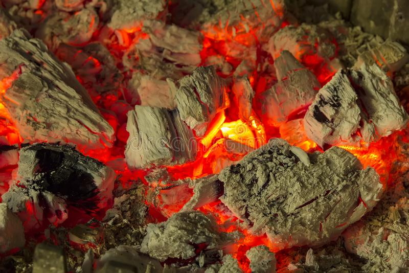 Fire flames of a bonfire in a fireplace. royalty free stock image