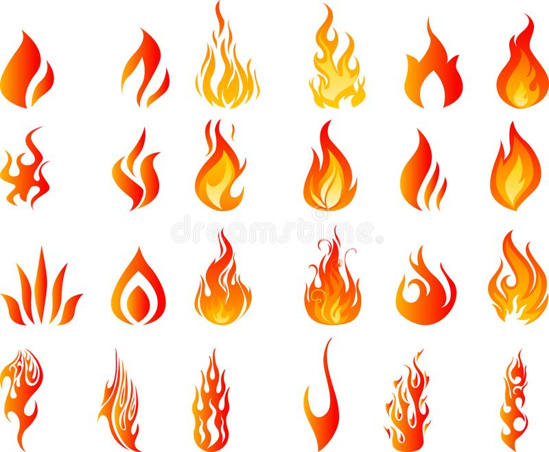 Fire flames burning hot royalty free illustration