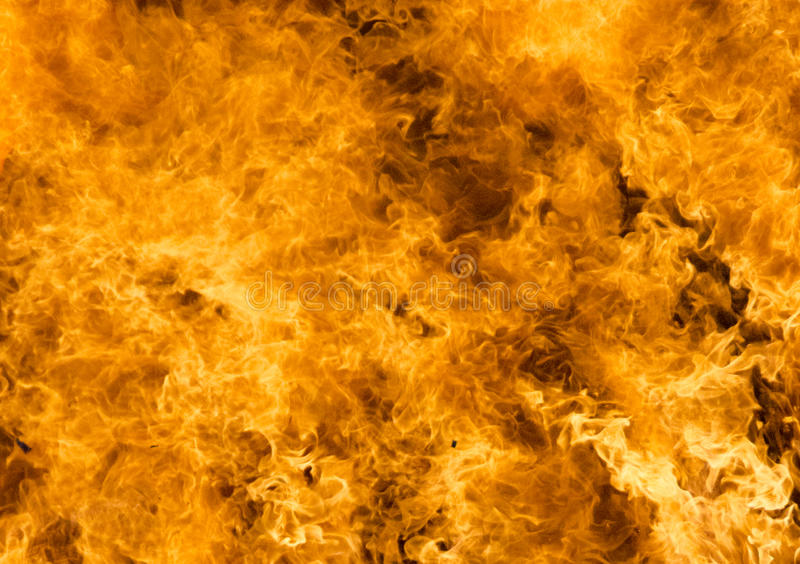 Fire and flames. Close to the fire and flames stock image