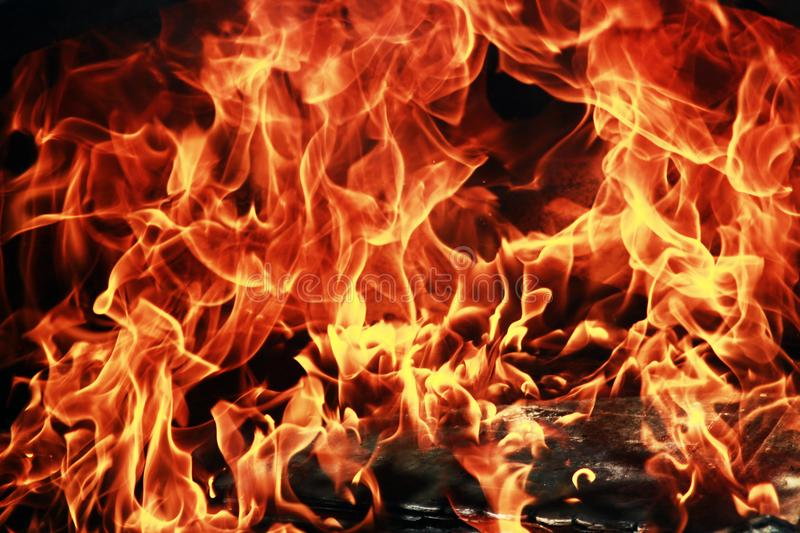 fire flames close up view royalty free stock photo