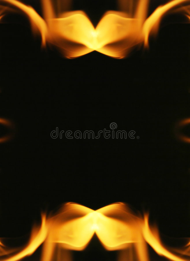 Fire flames frame stock images