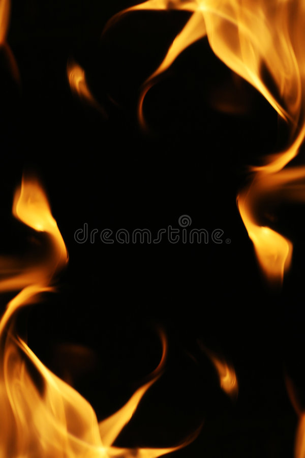 Fire flames frame. Background texture royalty free stock photography