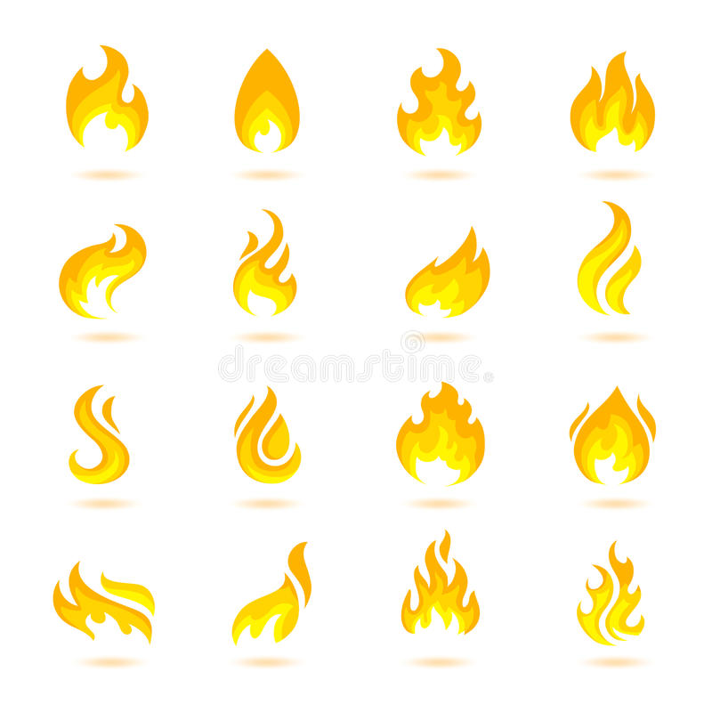 Fire Flames Icons vector illustration