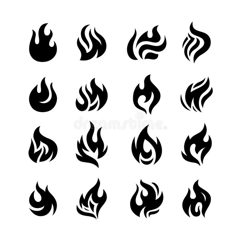 Download Fire flames stock vector. Image of decoration, icon, campfire - 31399206