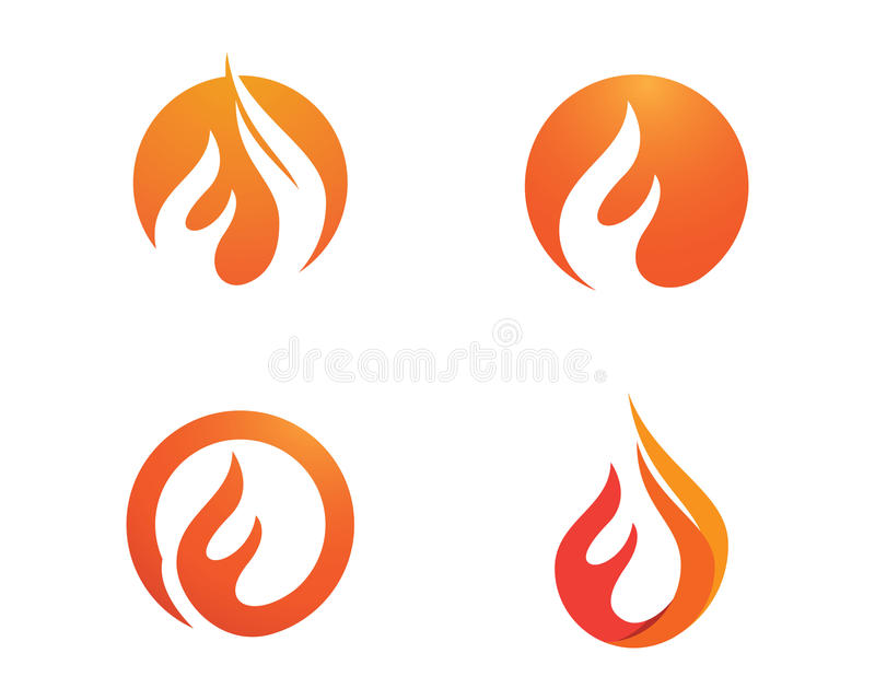 Fire flames Logo template. Fire flames icon vector illustration business logo stock illustration