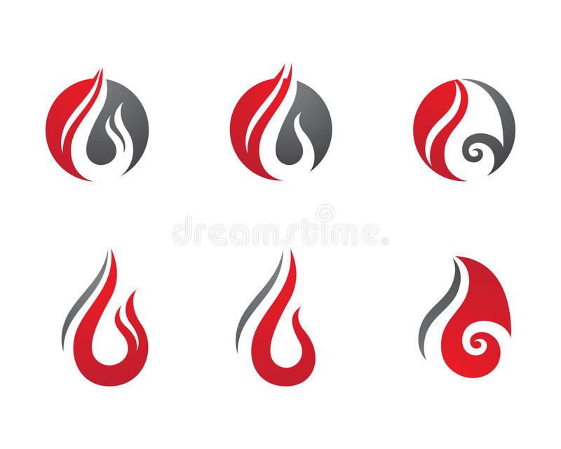 Fire flames Logo template. Fire flames icon vector illustration business logo vector illustration