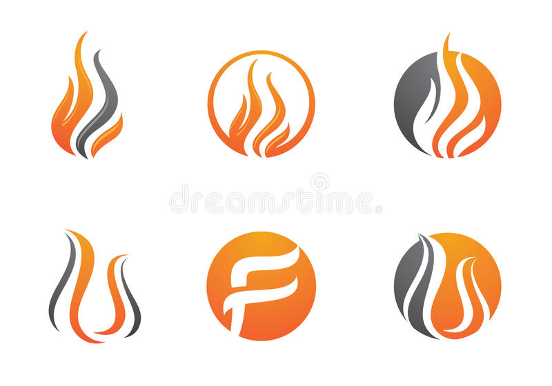 Fire flames Logo template stock vector. Illustration of blaze - 76825023